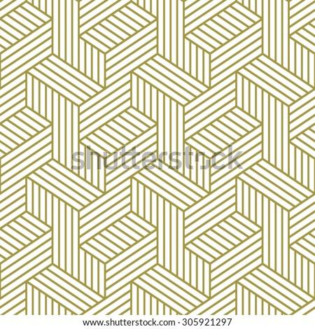 Elegant pattern. Golden pattern. Seamless vector pattern. - stock vector