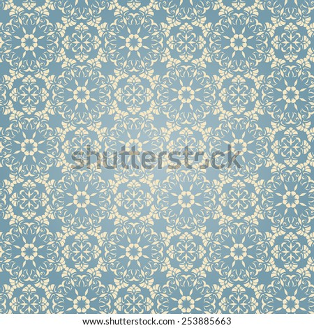 elegant pattern of light elements on a blue background - stock vector