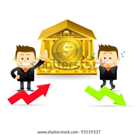 Elegant people Series | Businessman,bank and finance concept - stock vector