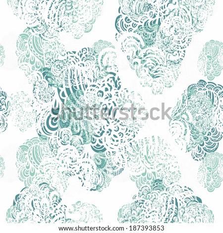 Elegant seamless  paisley  pattern - stock vector