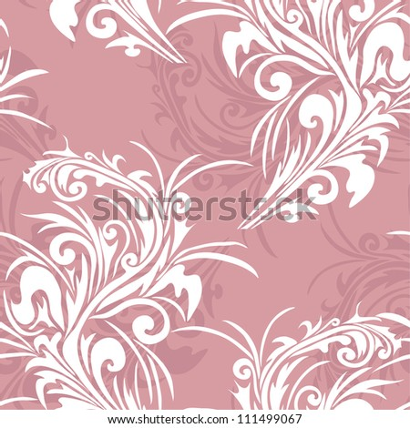 elegant seamless pattern with abstract flowers for your design - stock vector