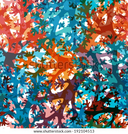 elegant seamless pattern with decorative corals, design element - stock vector