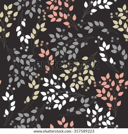 Elegant seamless pattern with stylish bouquet. Floral template can be used for design fabric, linen, tile, wallpaper, paper and more creative designs. Vector image. - stock vector