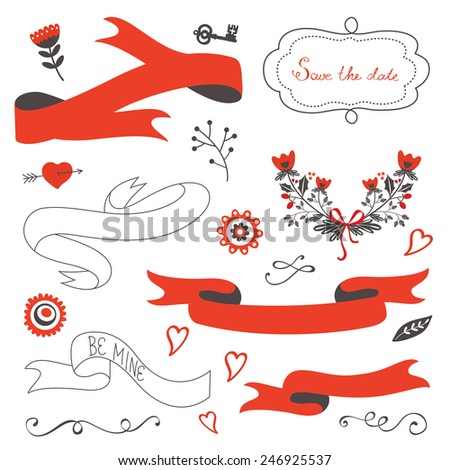 Elegant set of grahic design elements. Vector illustration - stock vector