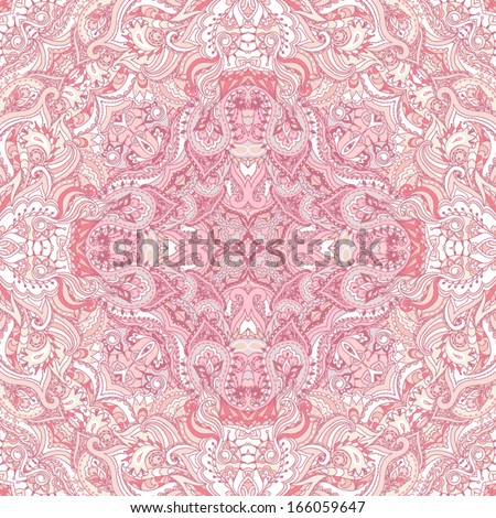 Elegant square floral paisley pattern. Can be used to design  pillows, scarves, neckerchief, bandanna, cushion. - stock vector
