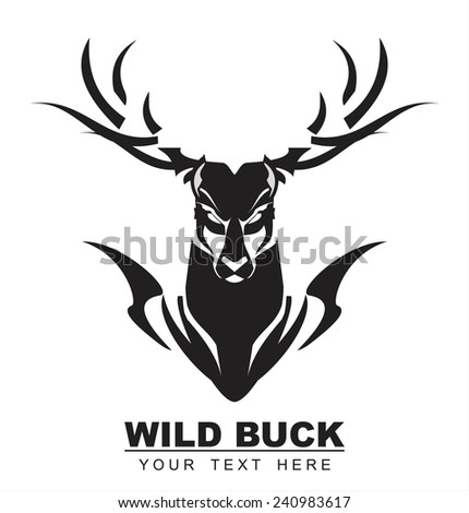 Elegant Staring Black Buck, symbolizing the power, protection, dignity, etc. Suitable for team Mascot , community identity, product identity, illustration for apparel, clothing, book cover, etc - stock vector