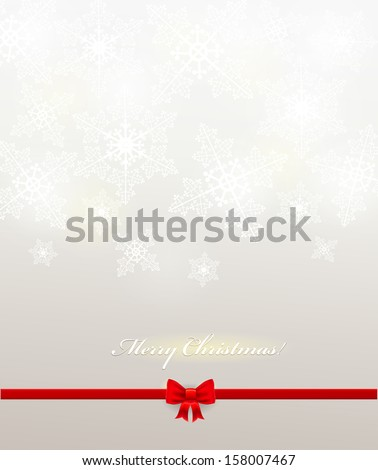 Elegant Vector Christmas background with white snowflakes. Vector design - stock vector