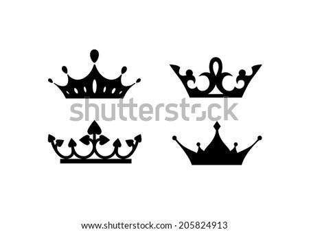 Elegant Vector Crowns - stock vector