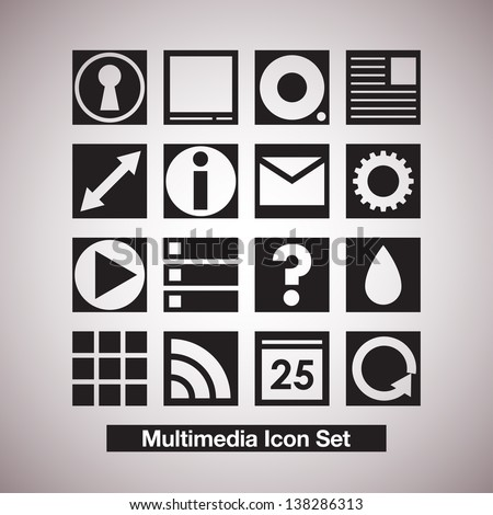 Elegant Vector Icon Set - stock vector