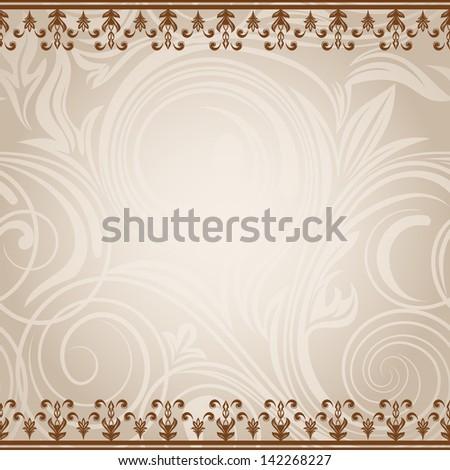 Elegant vintage card - stock vector