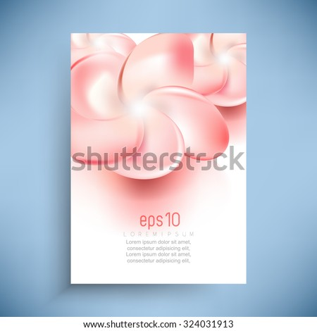 elegant wedding feminine nature beautiful flower leaflet background illustration - stock vector