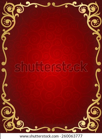 Elegant wedding invitation/ anniversary background / frame design with swirls. can be use as wedding , anniversary, valentines day, mother's day party invitation / cards - stock vector