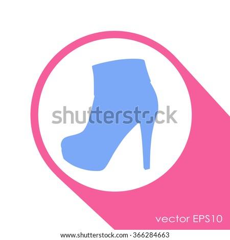 Elegant women high heel shoe vector isolated - stock vector