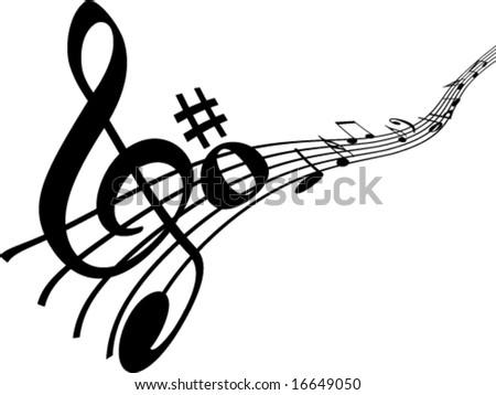 Element music concept - stock vector