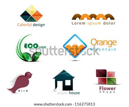 elements - stock vector