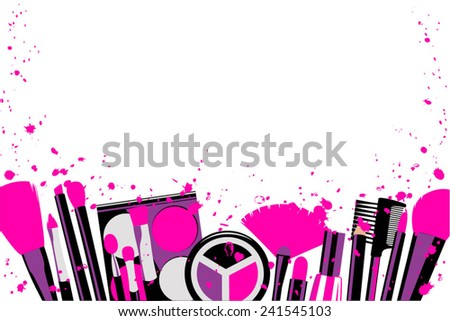 Elements cosmetics and makeup stains - stock vector
