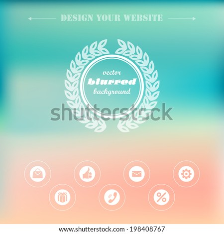 Elements design  of the menu for a website. - stock vector