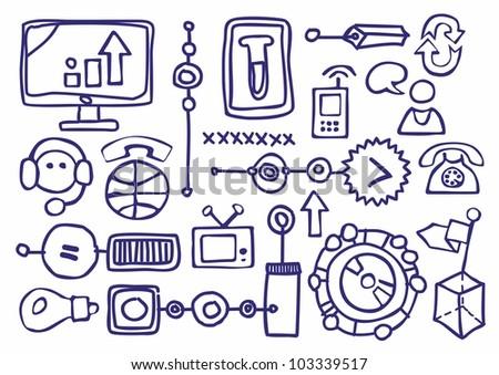 elements drawn infographics - stock vector