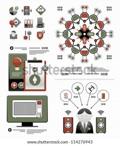 elements for a business infographic - stock vector