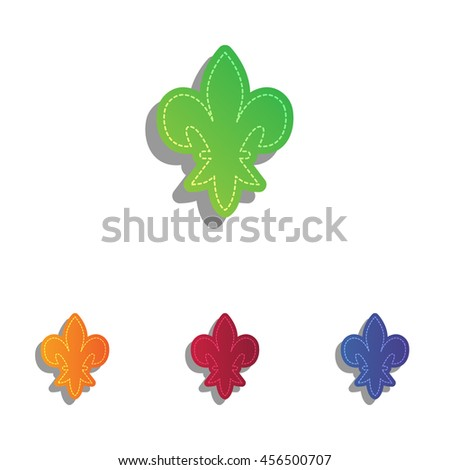 Elements for design. Colorfull applique icons set. - stock vector