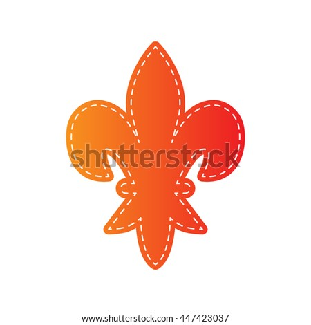 Elements for design. Orange applique isolated. - stock vector