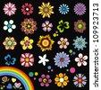 Elements of design (flowers) - stock vector