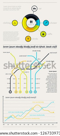 Elements of Infographics with buttons and menus.  EPS10. - stock vector