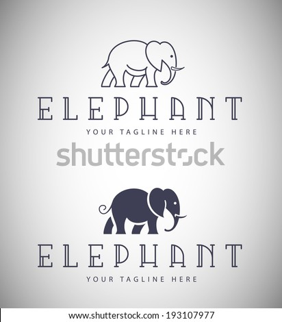 Elephant Emblem for Your Business - stock vector