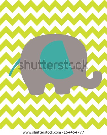 Elephant Love - stock vector