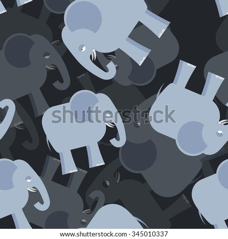 Elephant seamless pattern. 3d background of elephants. Texture of an animal from jungle. Ornament for baby tissue. - stock vector