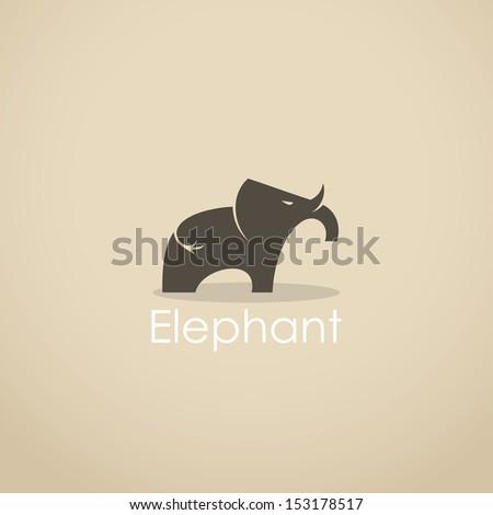 Thai Elephant Vector Elephant Sign Vector