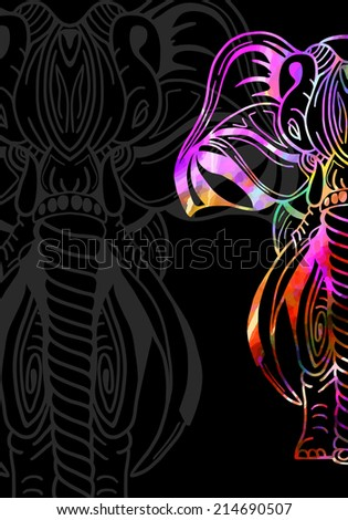 Elephant. Vector illustration. - stock vector