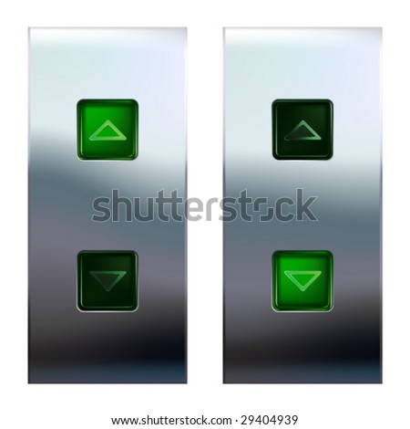 Elevator buttons  (#3 of 4) • Find more elevator panels  in my portfolio • - stock vector