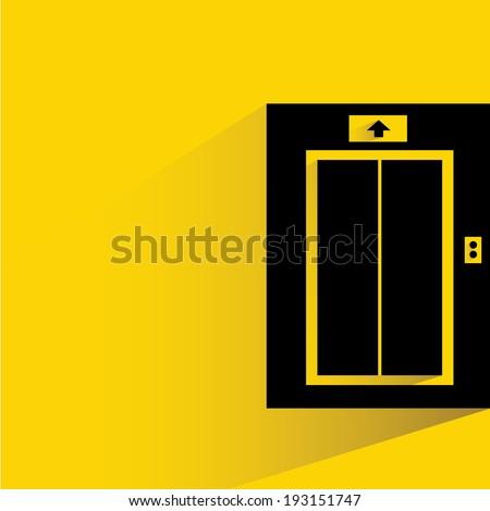 elevator, passenger lift symbol - stock vector