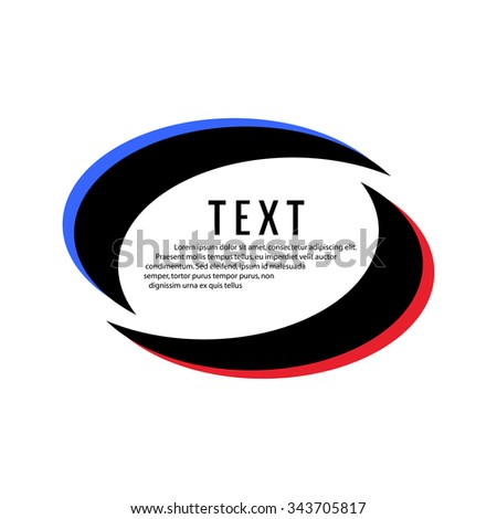 ellipse frame for text - stock vector