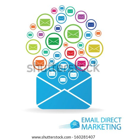 email direct marketing. Communication concept. vector Illustration. - stock vector