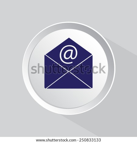 email icon isolated - stock vector