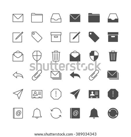 Email icons, included normal and enable state. - stock vector