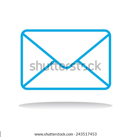 Email Message Envelope Online Media Vector Illustration Concept - stock vector