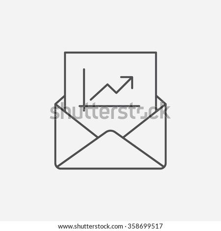 Email Message News Report Information Notification Economy Business Financial Growth Vector Icon - stock vector