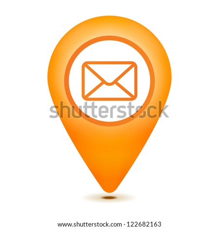 email pointer icon on a white background - stock vector