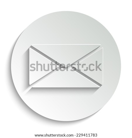Email  -  vector icon with shadow on a round button - stock vector