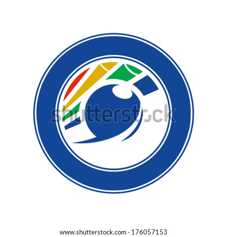Emblem billiards Branding Identity Corporate vector logo design template Isolated on a white background - stock vector