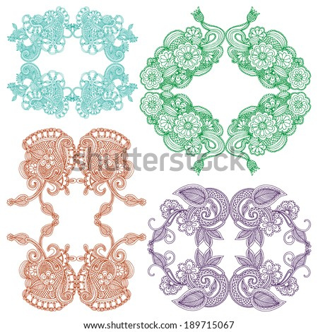 Embroidery design - stock vector