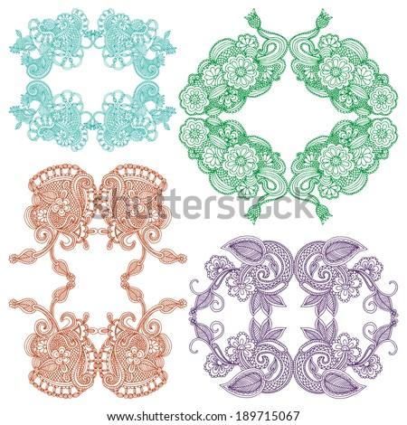 Embroidery design - stock vector