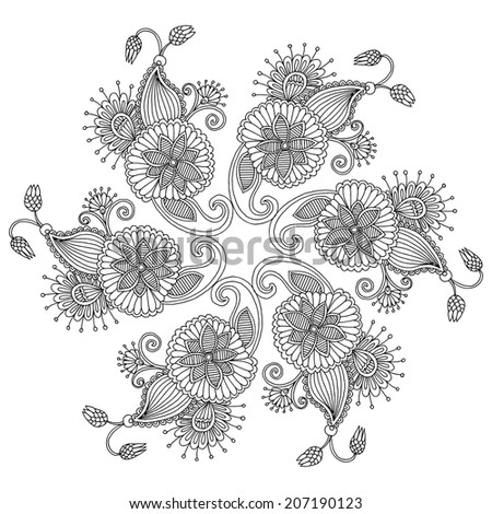 Embroidery pattern template  - stock vector