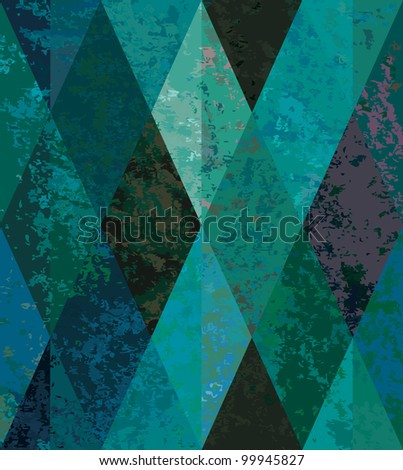 Emerald seamless background. diamond-shaped mosaic. - stock vector