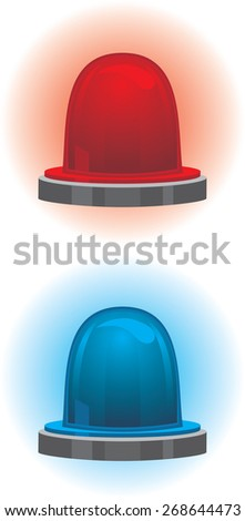 Emergency and police light. Vector - stock vector