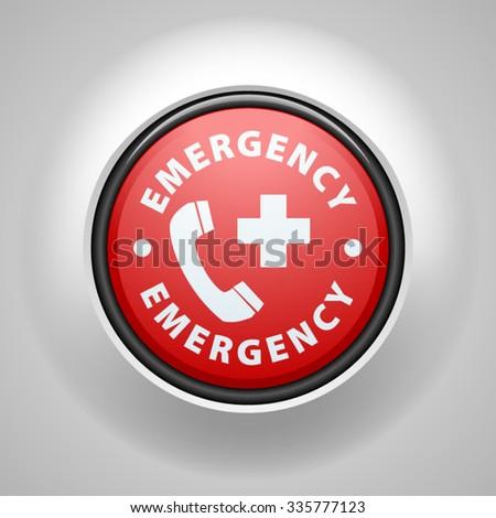 Emergency call button - stock vector