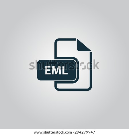 EML file format. Flat web icon or sign isolated on grey background. Collection modern trend concept design style vector illustration symbol - stock vector